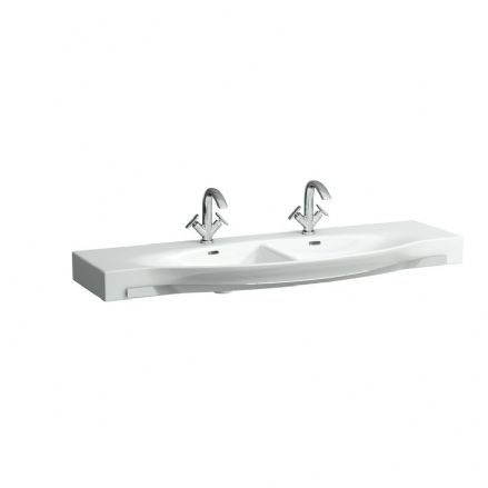 814706 - Laufen Palace 1500mm x 510mm Double Washbasin With Towel Rail - 8.1470.6